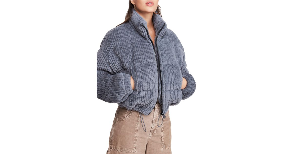 BDG Urban Outfitters Fluffy Corduroy Crop Puffer Jacket in ...
