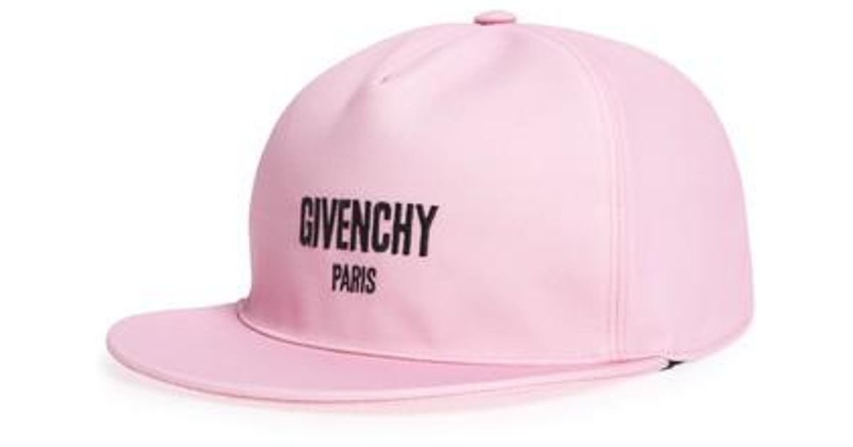 9bb36d06f08 Lyst - Givenchy Paris Embroidered Canvas Snapback Cap in Pink for Men