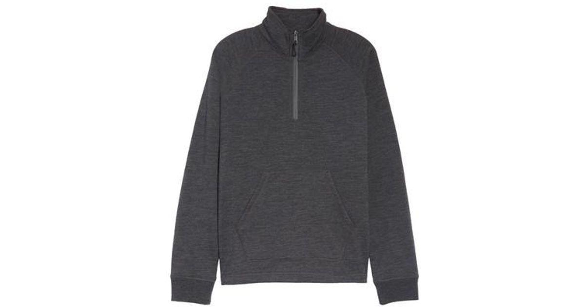 dd202f46b36a76 UGG (r) Merino Wool Quarter Zip Pullover in Gray for Men - Lyst