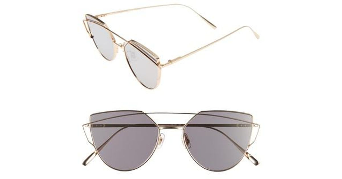e48acb89ed24 Lyst - Gentle Monster Love Punch 55mm Titanium Aviator Sunglasses in  Metallic