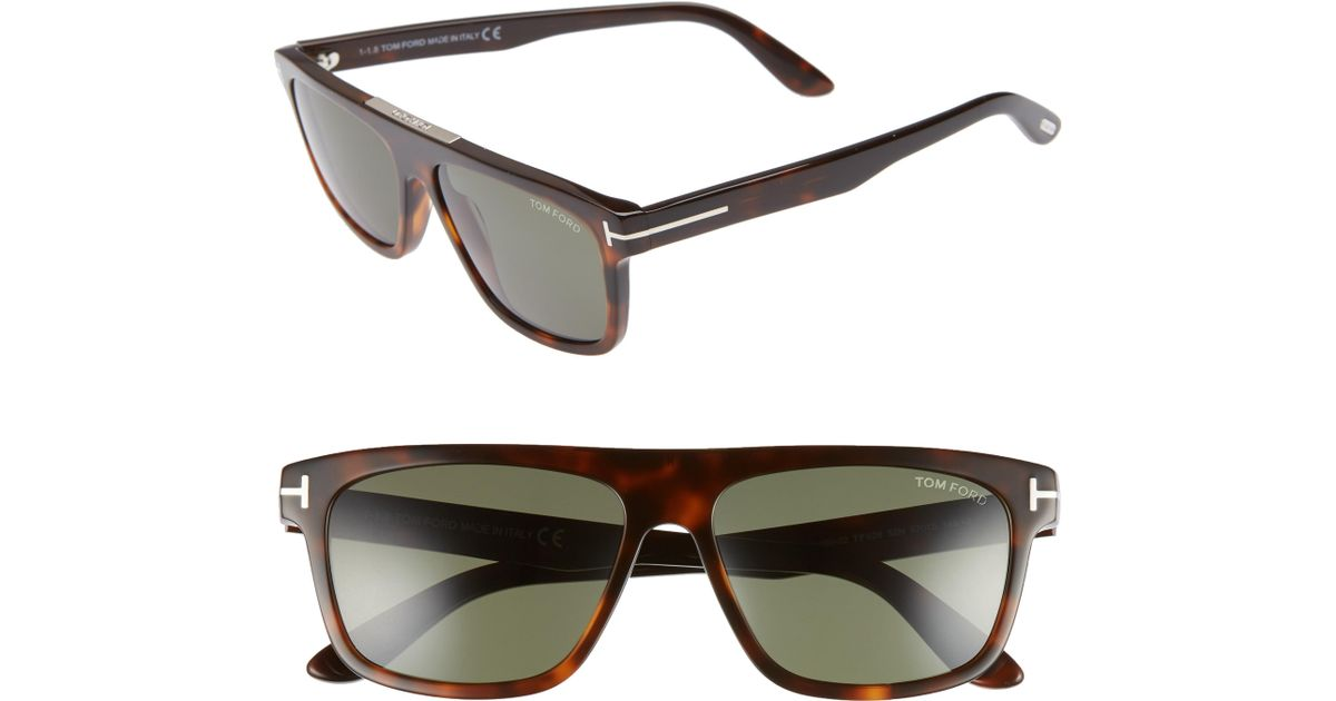 b0de8ab38be1 Lyst - Tom Ford Cecilio 57mm Blue Block Optical Glasses - in Blue