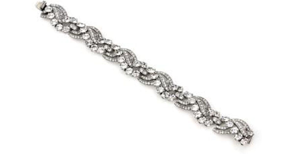 Ben-Amun Four-Row Pearly Beaded Fan-Motif Bracelet 0DnD850