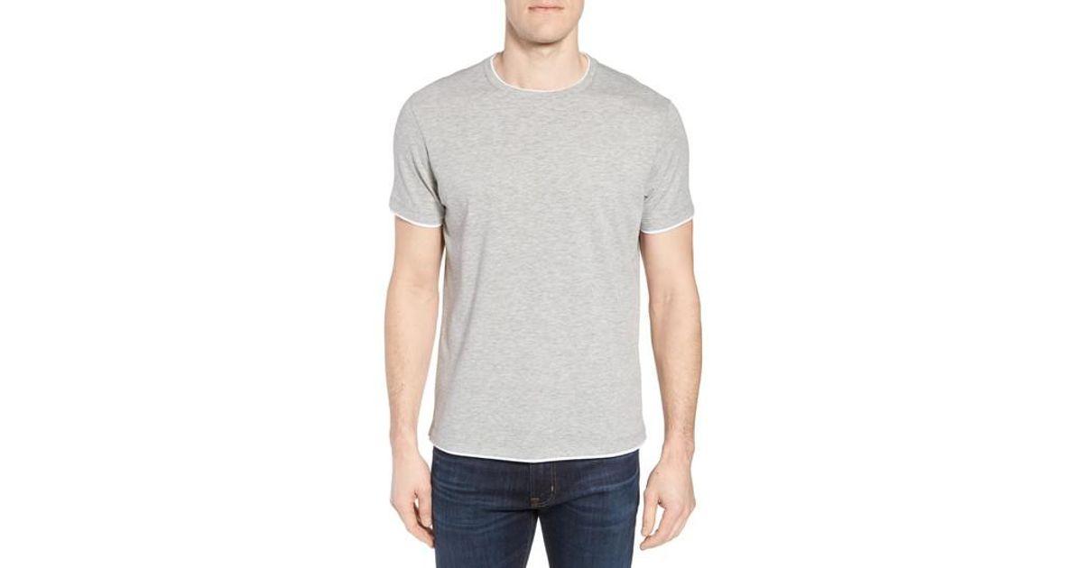 935ec2f3274c3a Lyst - Robert Barakett Halifax Crewneck T-shirt in Gray for Men