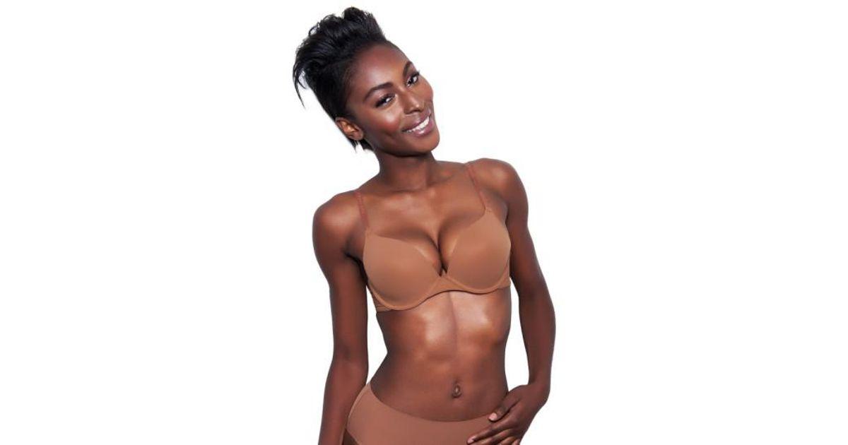 f81eda3efc907 Lyst - Nubian Skin  essential  Underwire T-shirt Bra in Brown