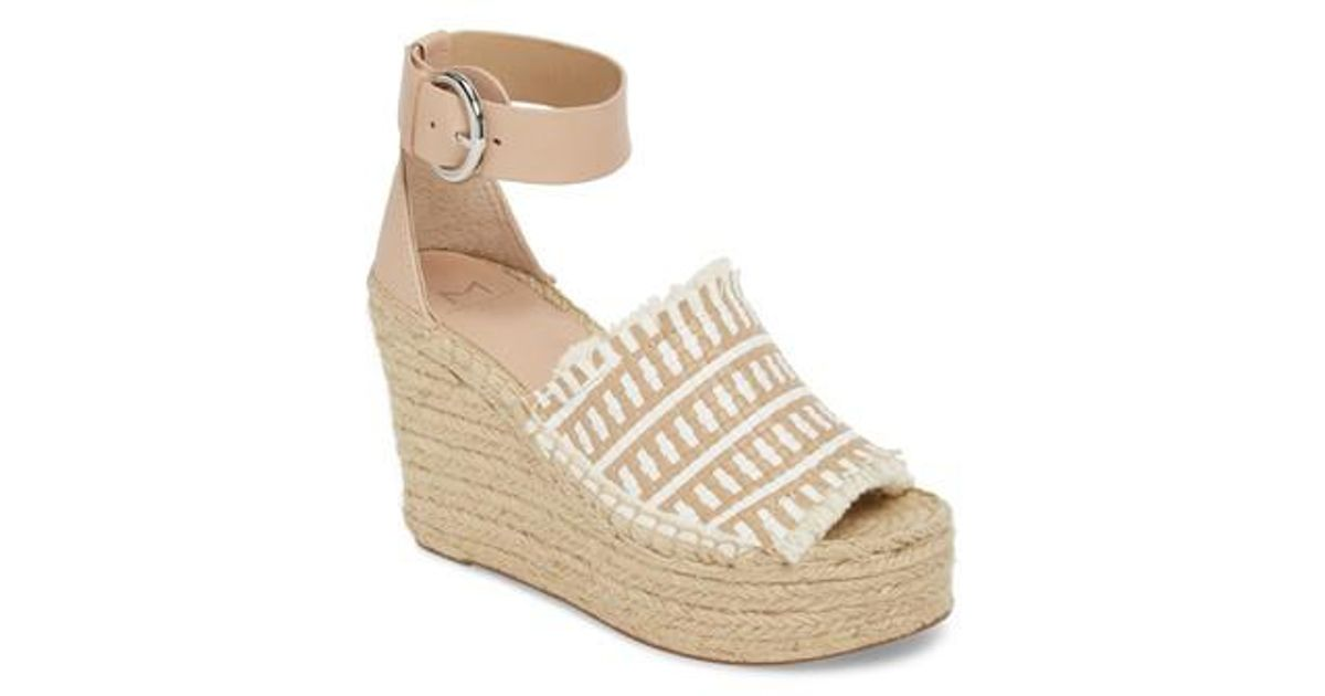ee8e55dce12 Lyst - Marc Fisher Andrew Espadrille Wedge Sandal in White