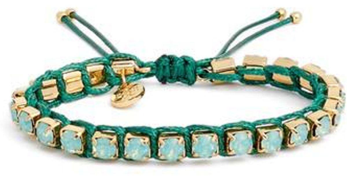 39289896bcee1 Tory Burch Green Friendship Bracelet