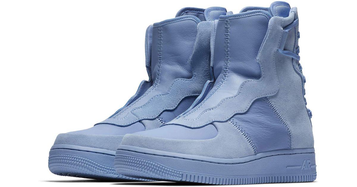 detailed look dd8c8 1e745 Nike Blue Air Force 1 Rebel Xx High Top Sneaker
