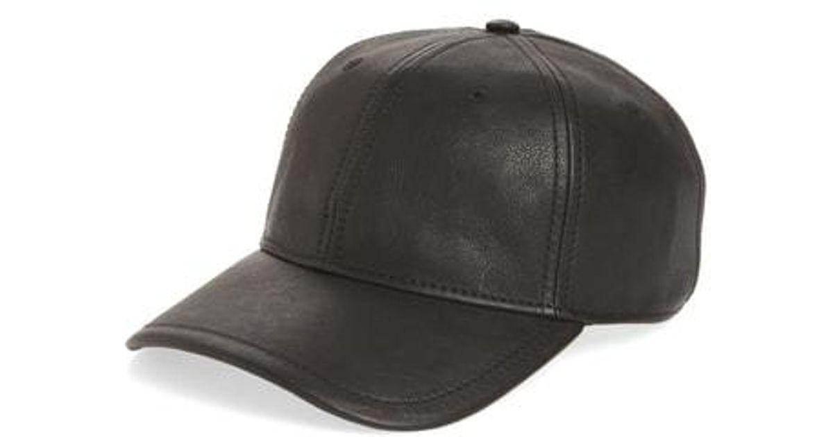 2a393e02539b5 Lyst - Rag   Bone Anderson Leather Baseball Cap in Black for Men