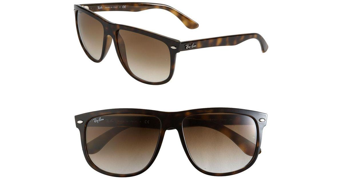 82057e7d87 Ray-Ban Boyfriend 60mm Flat Top Sunglasses in Brown - Lyst