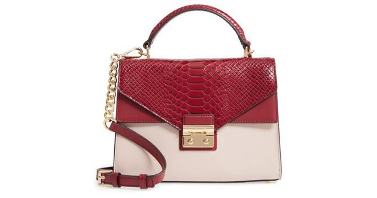 0febf428008f ... best price lyst michael michael kors medium sloan leather shoulder bag  in red bbfd8 c4106
