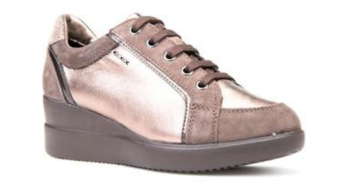 Lyst - Geox Stardust Wedge Sneaker 2d540162fbd