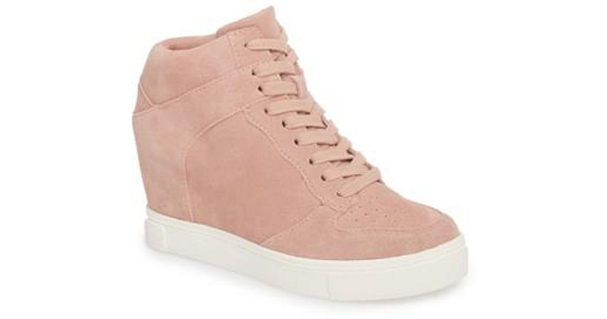 79c8749fd301 Lyst - Steve Madden Noah Hidden Wedge Sneaker in Pink