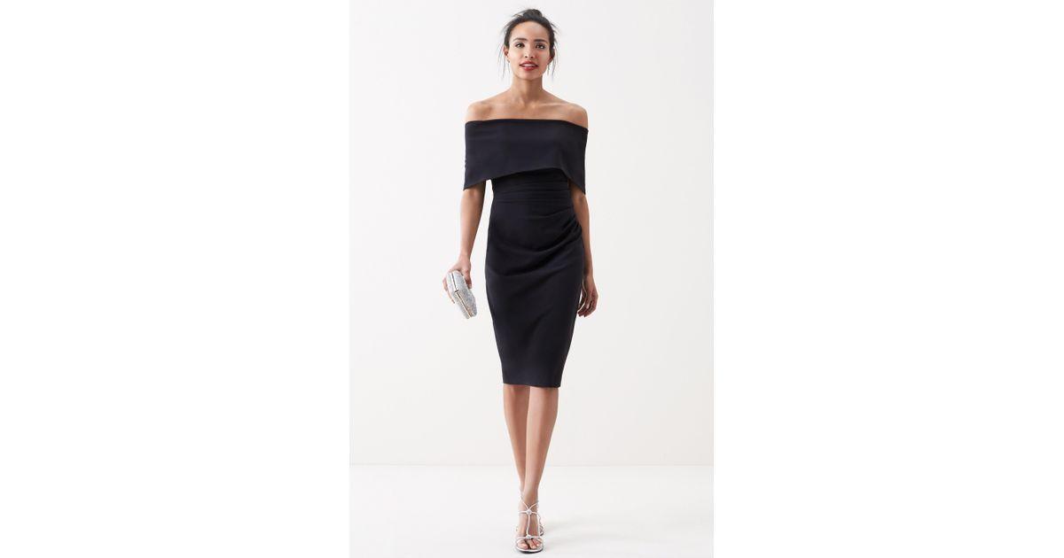 Lyst Vince Camuto Popover Midi Dress In Black