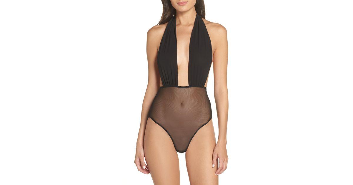 1d64d8a8e49 Lyst - Bluebella Luella Bow Bodysuit in Black - Save 37%