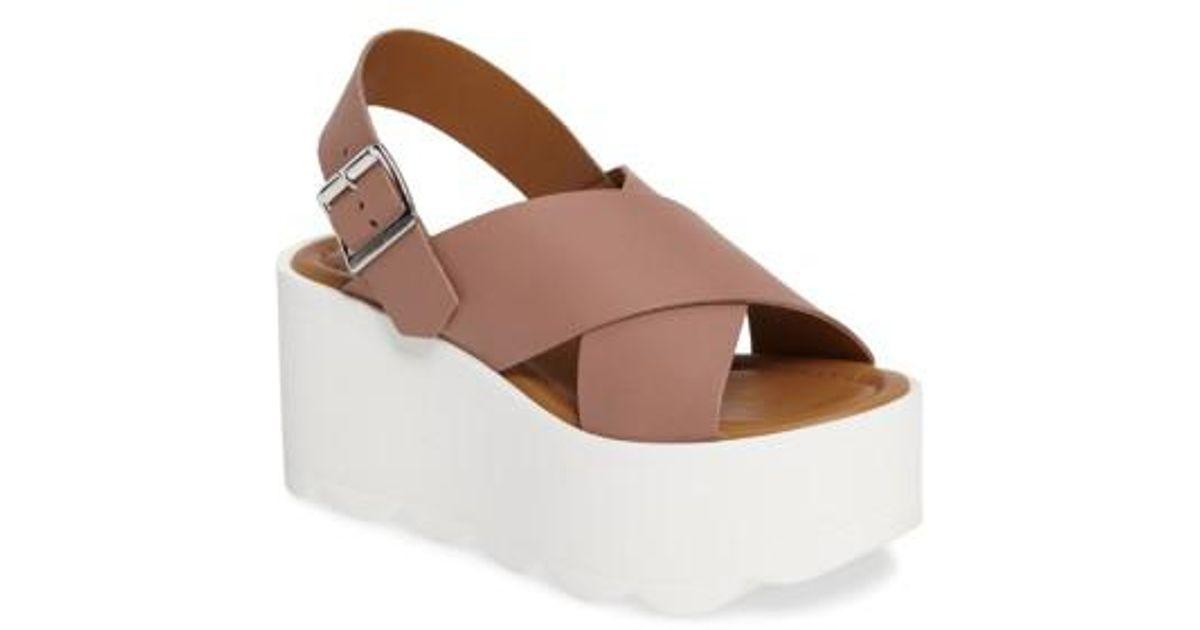 bf13c767ceb Lyst - Steve Madden Gigi Platform Wedge Sandal in Brown