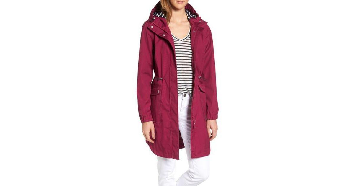 Joules Right As Rain Waterproof Hooded Jacket In Red Lyst
