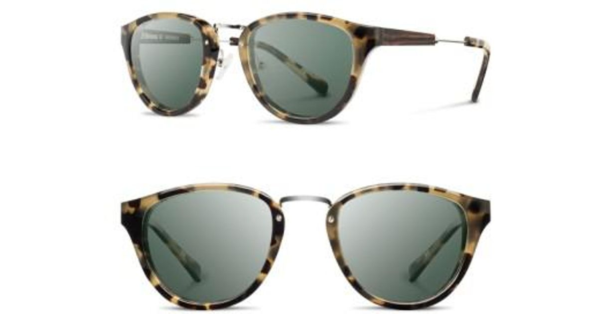 519766478128f Lyst - Shwood  ainsworth  49mm Acetate   Wood Sunglasses - Vintage Tort   Silver  G15 in Metallic