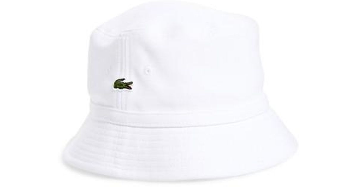 027e1aedb26 Lyst - Lacoste Bob Bucket Hat in White for Men