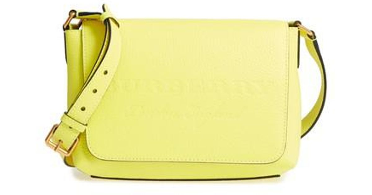 4cf19b011a4 Lyst - Burberry Small Burleigh Leather Crossbody Bag in Yellow