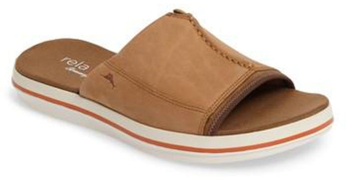 3def7d0172de Lyst - Tommy Bahama Relaxology Jareth Slide Sandal in Brown for Men