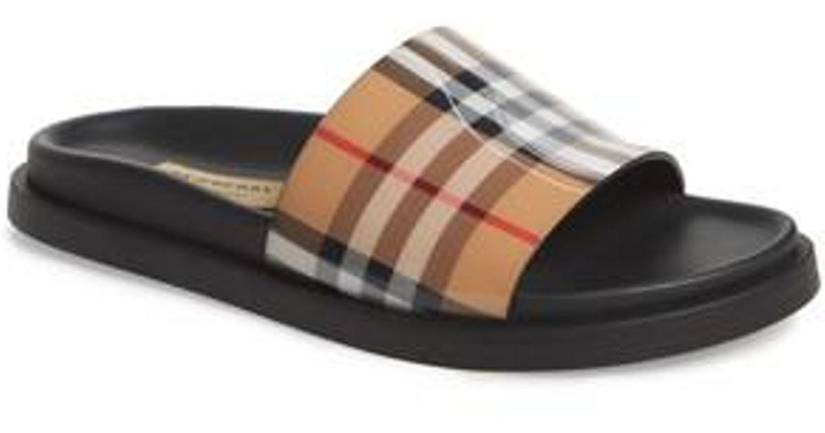 de95396448 Burberry Multicolor Vintage Check Slide Sandal