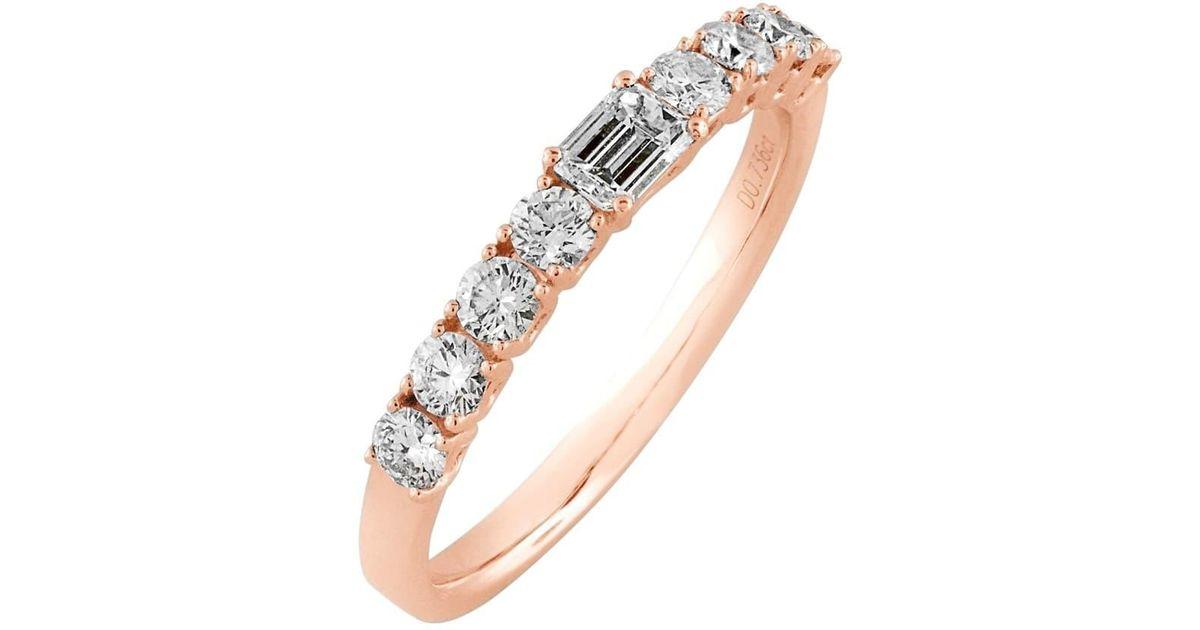 14492c0b93d97 Bony Levy Metallic 'liora' Stackable Emerald Cut Diamond Ring