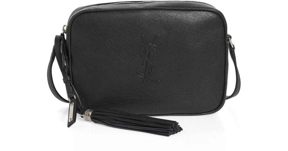 d0800db1f667 Lyst - Saint Laurent Small Mono Leather Camera Bag in Black