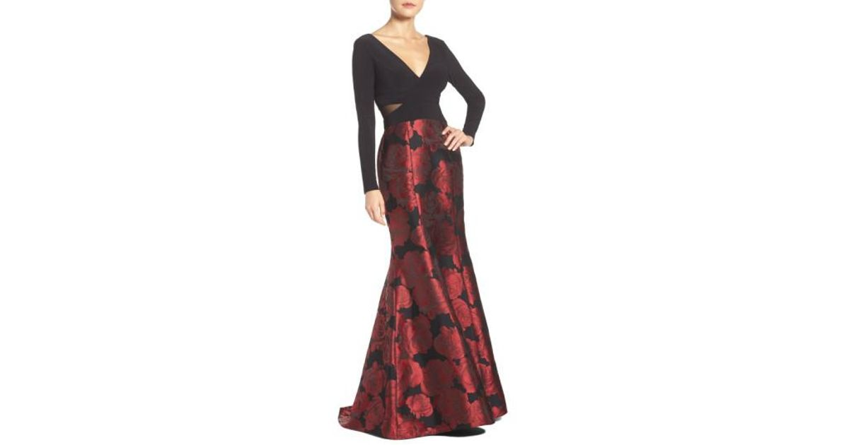1b47db71 Lyst - Xscape Brocade Mermaid Gown in Red
