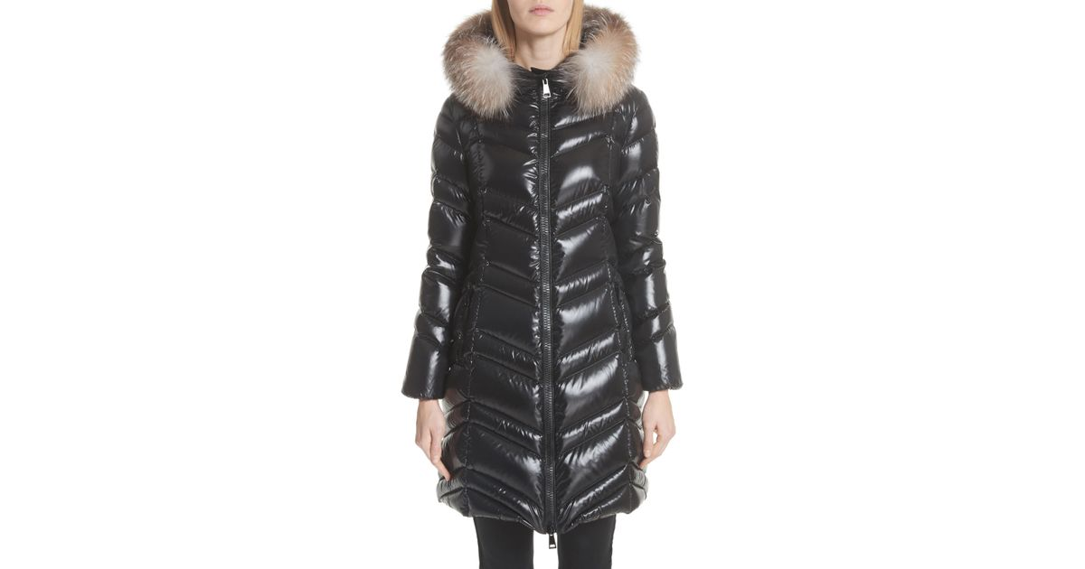 9d2959768978 Lyst - Moncler Fulmar Hooded Down Puffer Coat With Removable Genuine Fox  Fur Trim in Black