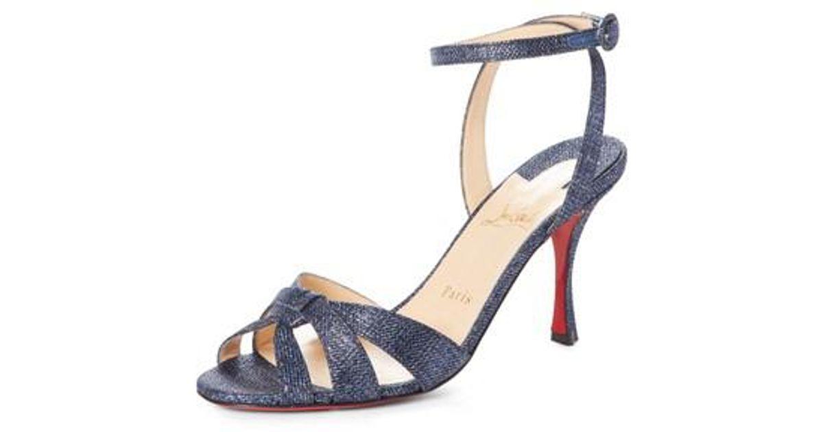 Trezuma 85 light red suede sandals Christian Louboutin fyYrW