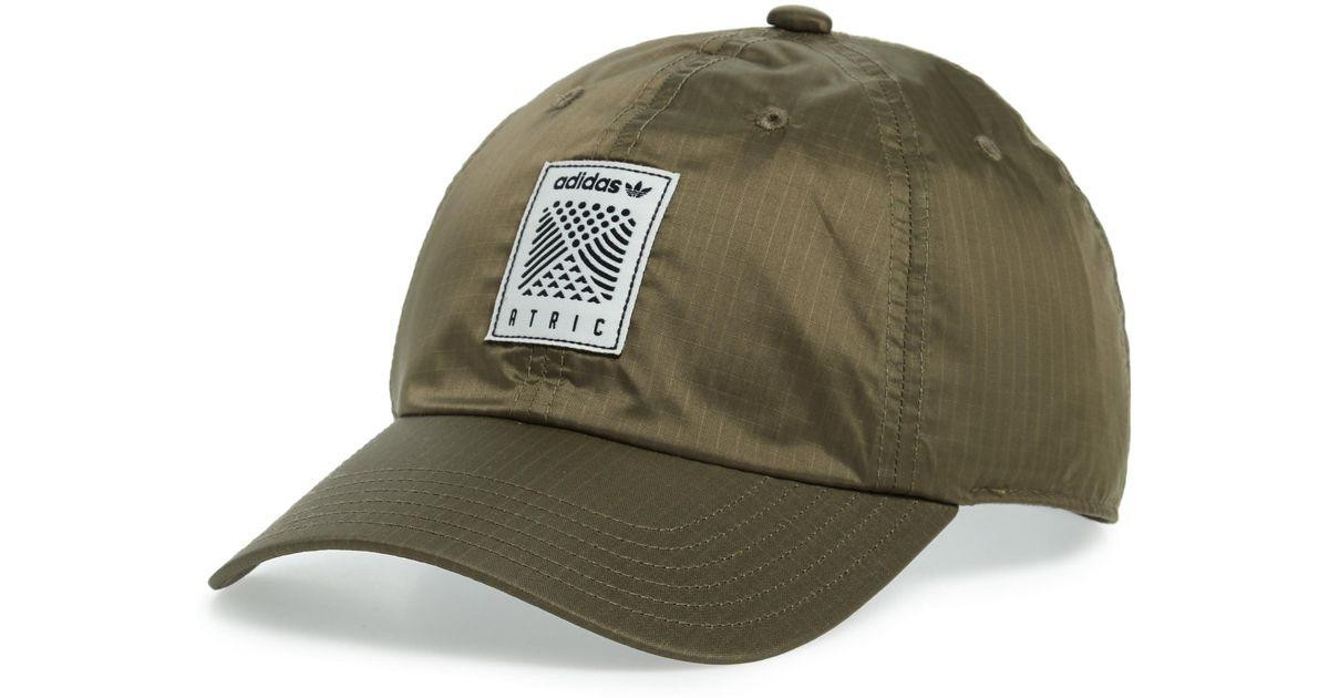 1d648618 adidas Originals Atric Ripstop Ball Cap - in Green for Men - Lyst