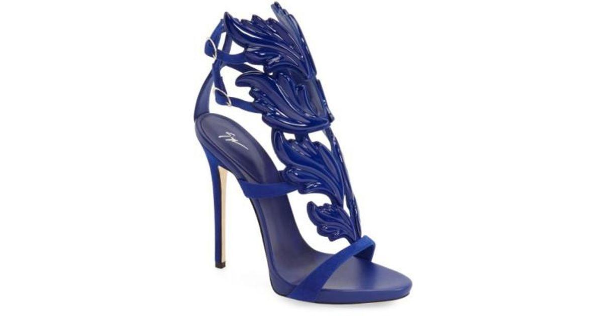 3110e8b93ee0e Giuseppe Zanotti Blue Cruel Wing Sandal in Blue - Lyst