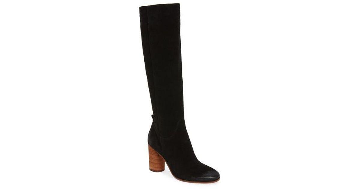 53634a0d1 Lyst - Sam Edelman Camellia Tall Boots in Black