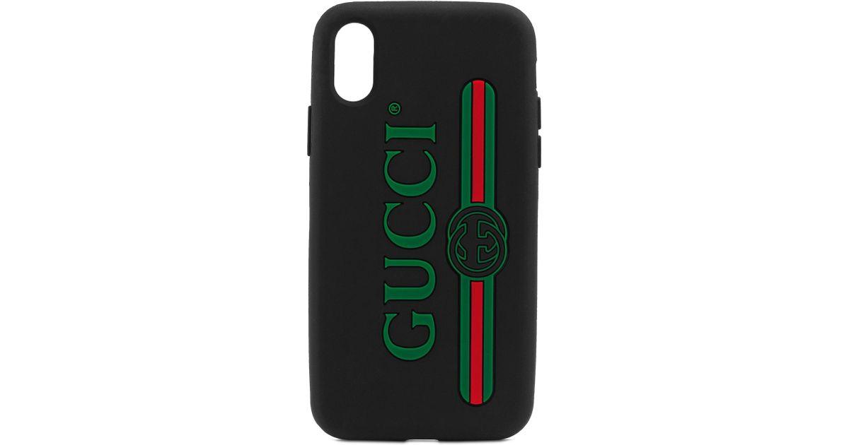 newest 374a1 8dfae Gucci Green Logo Iphone X Case -