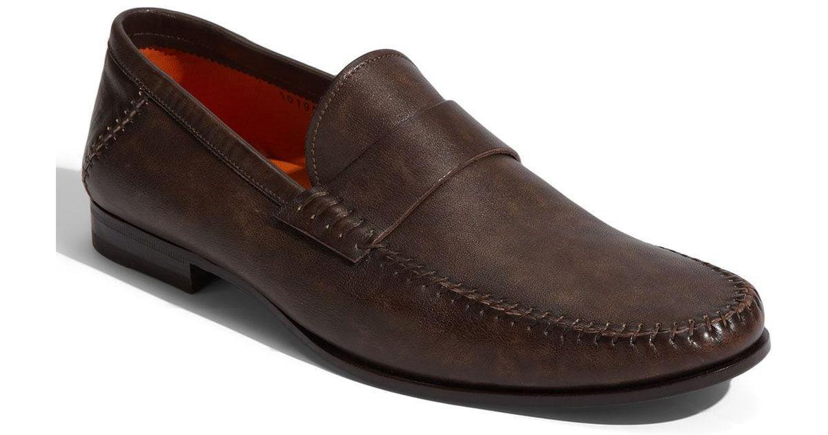 26d0565c340 Lyst - Santoni Paine Loafer in Brown for Men