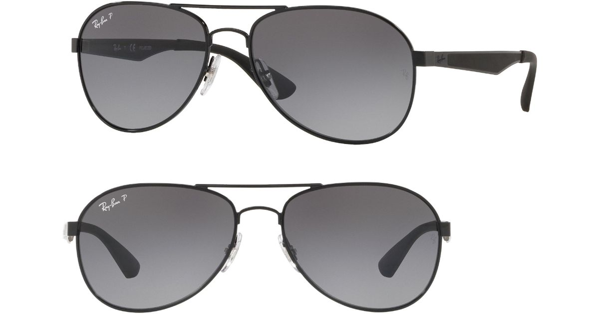 cdcdeecc14fe Lyst - Ray-Ban Active Lifestyle 61mm Polarized Pilot Sunglasses in Black  for Men