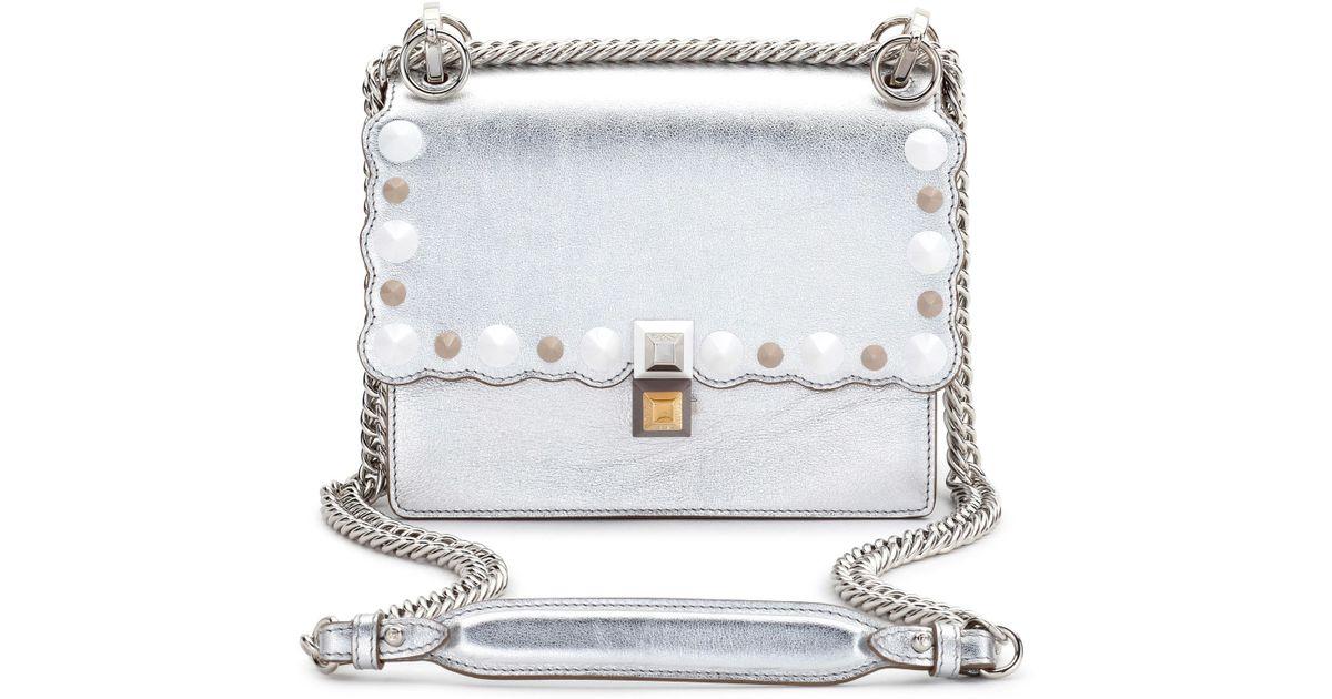 Lyst - Fendi Small Kan I Metallic Leather Shoulder Bag - in Metallic - Save  54% b5206bf4f640c