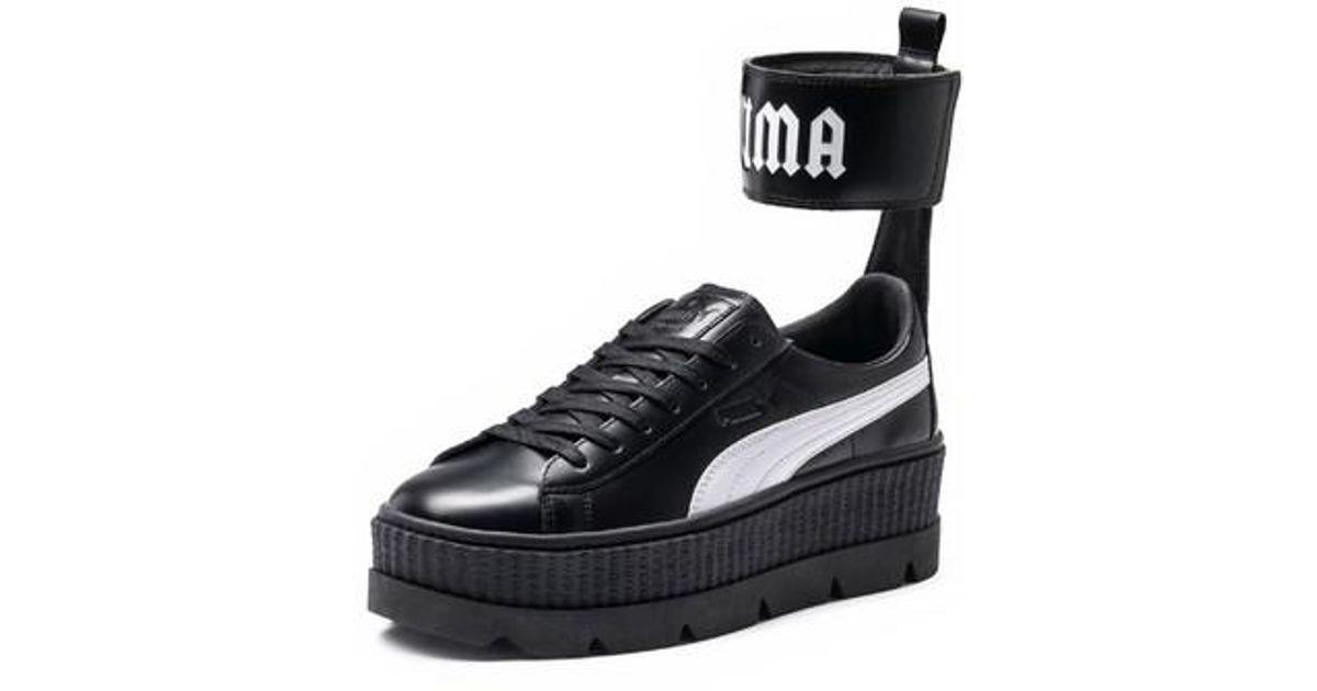 best service 5fa96 45896 PUMA Black Fenty By Rihanna Ankle Strap Creeper Sneaker