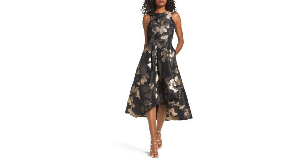 2c27e5009ae Shoshanna Coraline Brocade High low Gown in Black - Lyst