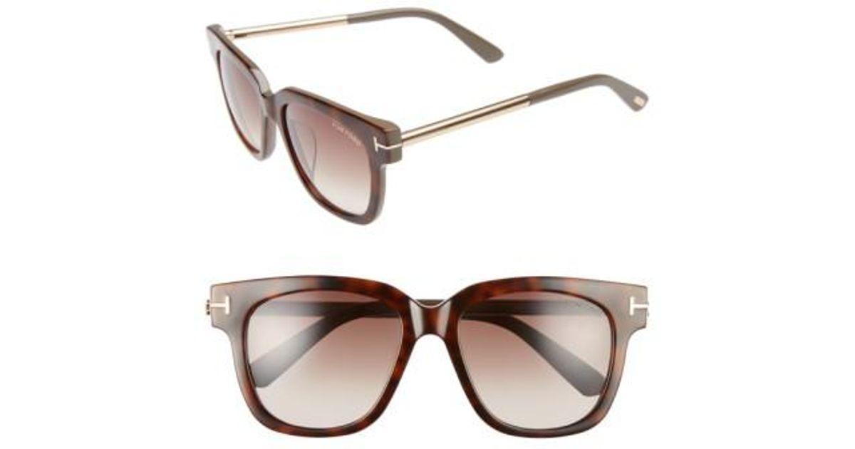 1d2a1ff34d6 Tom Ford. Women s Brown Tracy 54mm Retro Sunglasses - Havana  Gradient  Roviex
