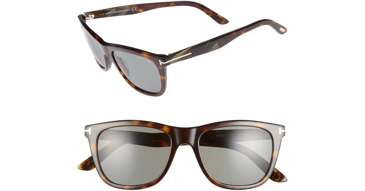 05d4c5b66a Lyst - Tom Ford Andrew 54mm Polarized Sunglasses - Dark Havana  Green in  Green for Men