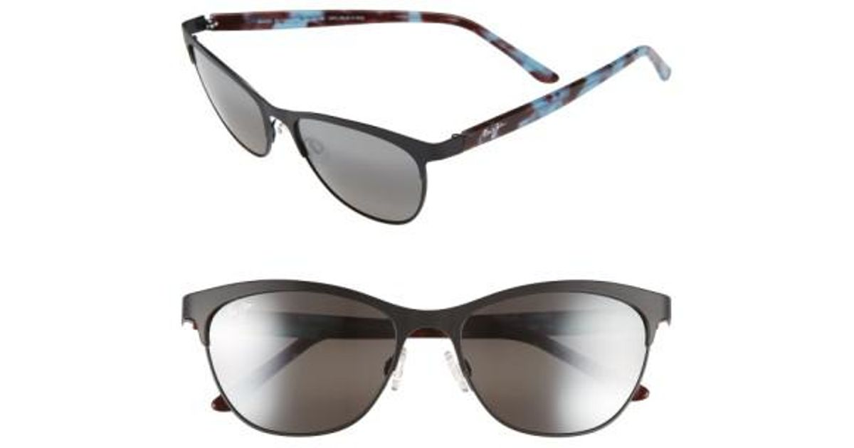 1ae56a68a3e76 Maui Jim Popoki 54mm Polarizedplus2 Sunglasses - Satin Black  Neutral Grey  in Black - Lyst