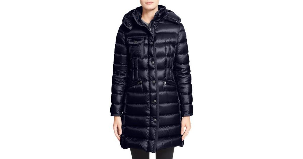 20fccda2f free shipping moncler hermine grosgrain trim down coat used for ...