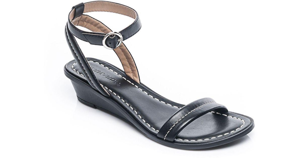 d60d41de66d Lyst - Bernardo Bernardo Catherine Ankle Strap Sandal in Black