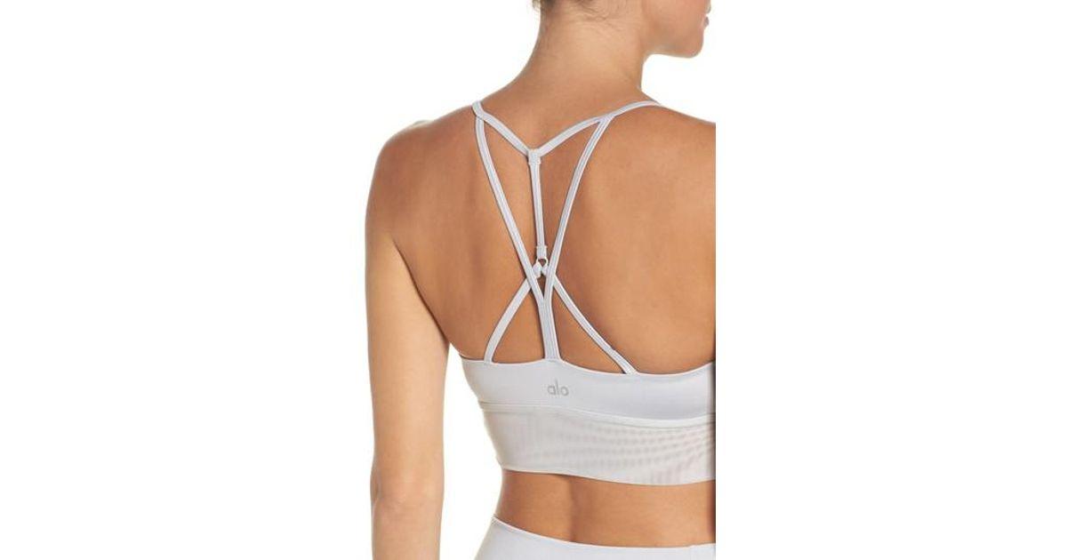 b00edab6fc Lyst - Alo Yoga  lush  Longline Sports Bra in Gray
