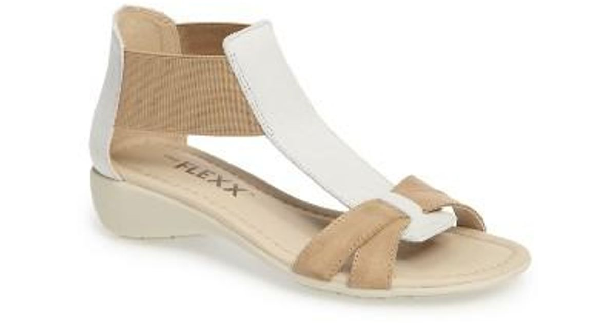 e6f79a3747f594 Lyst - The Flexx  band Together  Sandal in White
