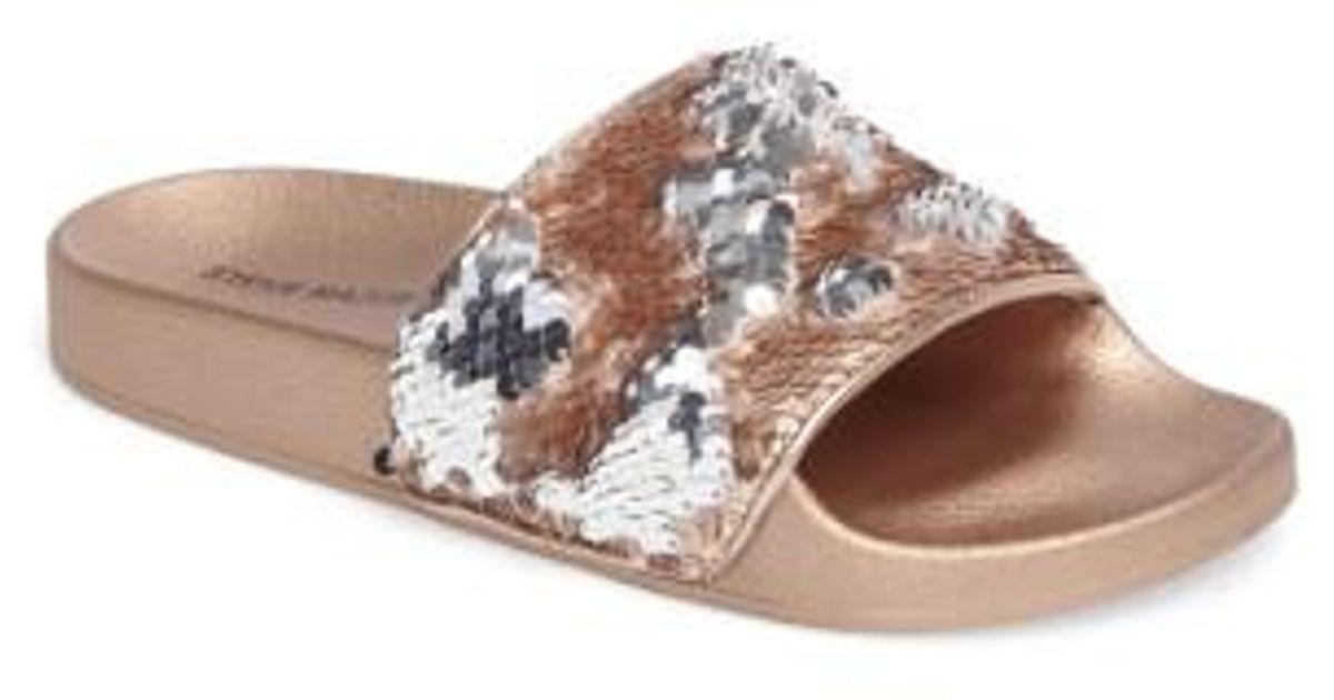 Steve Madden Softey Sequin Slide Sandal