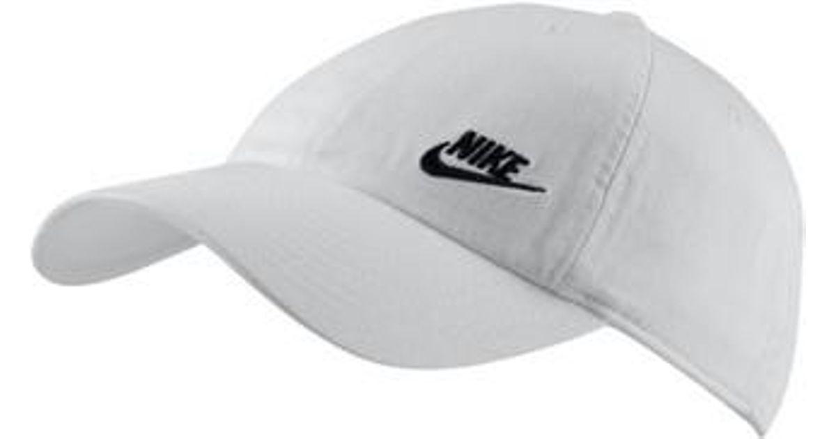 ea5a4eec605c2 Nike Women's H86 Swoosh Hat in White - Lyst