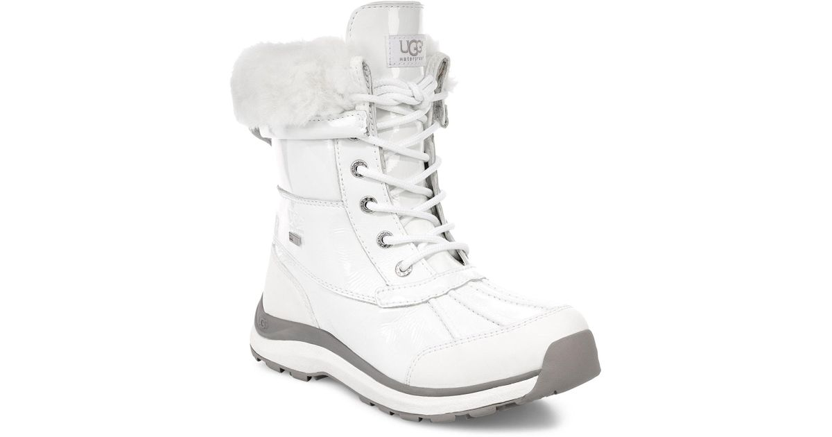 56c0e8c468d Ugg White Ugg Adirondack Iii Waterproof Insulated Patent Winter Boot