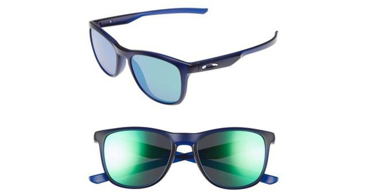 6477f6aee2 Lyst - Oakley Trillbe X 52mm Sunglasses - Clear Blue  Jade Iridium in Blue